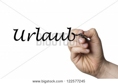 Urlaub Written By A Hand