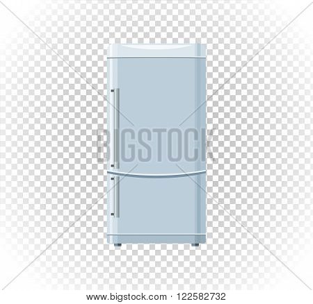 Sale of household appliances freezer. Electronic device refrigerator. Sale badge label refrigerator logo. Home appliances in flat style. Refrigerator, fridge magnet fridge door, sale fridge, freezer
