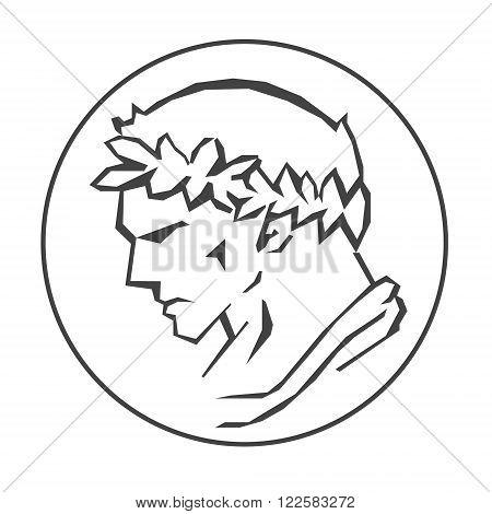 Profile of Ceasar Hand drawn vector illustration of Ceasar