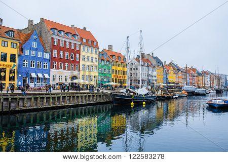 COPENHAGEN - FEBUARY 16 - The popular historical place for tourist in Copenhagen, Denmark.