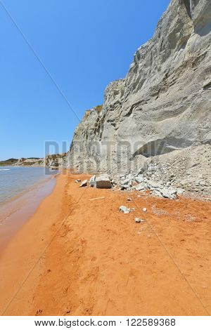 Xi Beach In Kefalonia Island - Greece