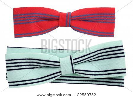 Hair bows tie blue turquoise with black stripes
