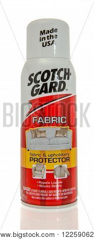 Winneconne WI -31 Oct 2015: Spray can of Scotch Gard protectant.
