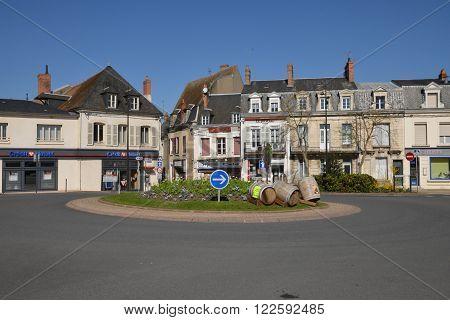 Cosne Cours sur Loire France - april 6 2015 : the city center in spring