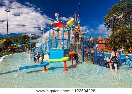 GOLD COAST, AUS - MAR 20 2016: Junior section of Wet'n'Wild Gold Coast water park, Queensland, Australia