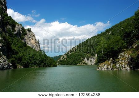 Beautiful canyon of river Uvac in Serbia, Europe