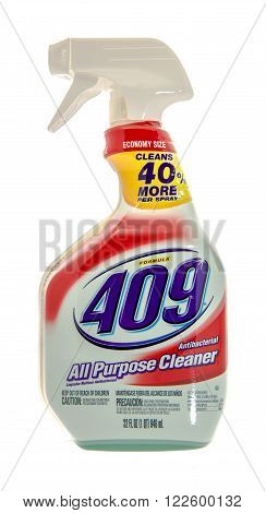 Winneconne WI -31 Oct 2015: Spray bottle of 409 all purpose cleaner.