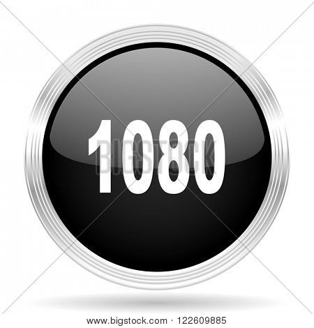 1080 black metallic modern web design glossy circle icon