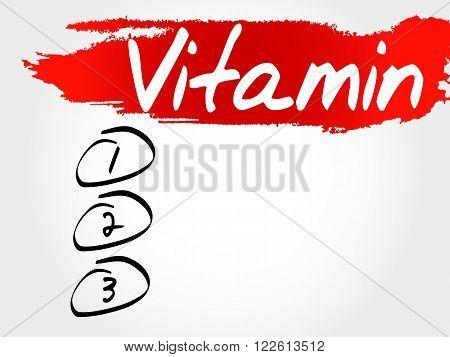 Vitamin Blank List, Fitness