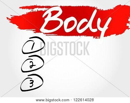 Body Blank List, Fitness