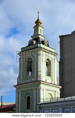 Moscow, Russia. Belfry of Temple of the Beheading of John the Baptist