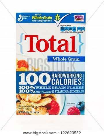 Winneconne WI - 20 April 2015: Box of Total cereal a product of General Mills