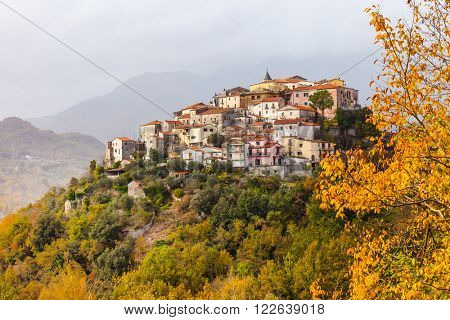 Colli al Volturno - pictorial small village in Molise, Italy
