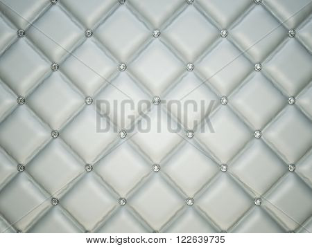 Luxury Leather Background With Diamonds Or Gemstones