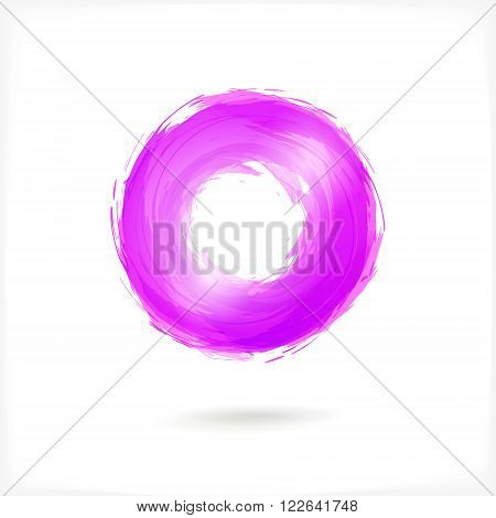 Violet Business Abstract Circle icon. vector logo design template for Corporate, Media, Technology style.