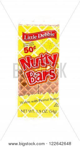 Winneconne WI - 5 June 2015: Package of Little Debbie nutty bars