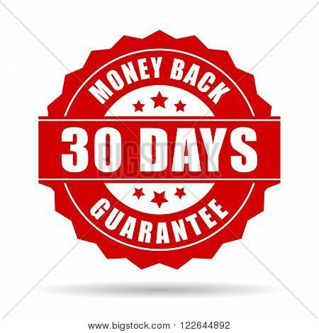30 days money back guarantee icon isolated on white background