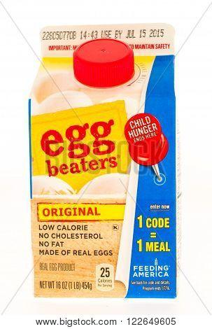 Winneconni, WI - 23 June 2015: Carton of egg beaters in original flavor.