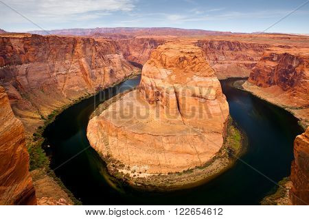 Sunrise Horse shoe bend in Arizona, USA