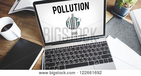 Pollution Emission Fog Hazard Mist Pollute Smog Concept poster