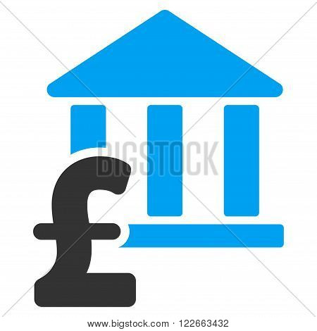 Library Pound Payment vector icon. Library Pound Payment icon symbol. Library Pound Payment icon image. Library Pound Payment icon picture. Library Pound Payment pictogram.