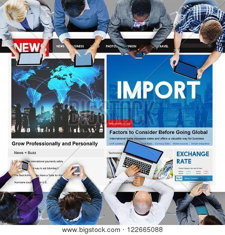 Import Frieght International Transportation Concept