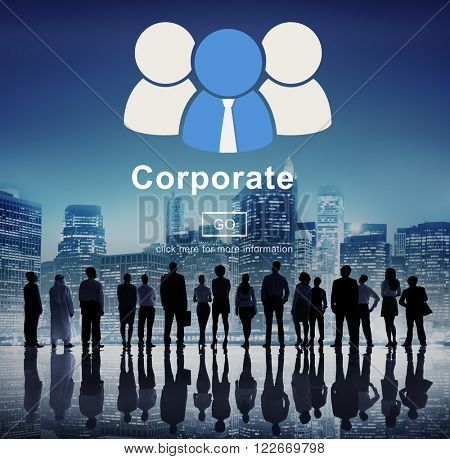 Corporate Business Company Network Organization Concept
