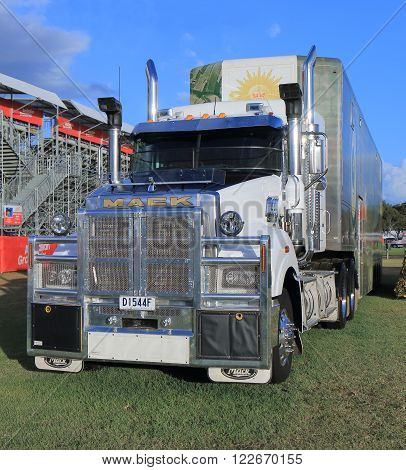 MELBOURNE AUSTRALIA - MARCH 18, 2016: MACK track. MACK is an American  truck manufacturer founded in 1900.