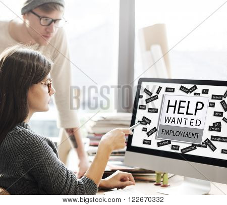 Help Wanted Employment Job Hiring Concept