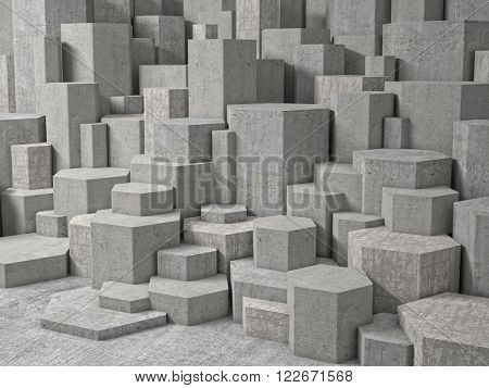 abstract background of geometric wall