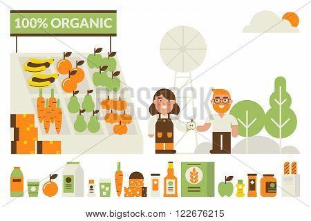Organic Market Concept