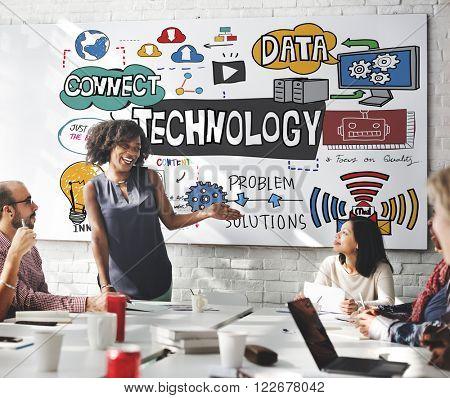 Technology The Cloud Online Storage Concept