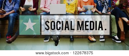 Social Media Connection Networking Internet Sharing Concept