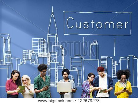 Customer Consumer Business Marketing City Concept