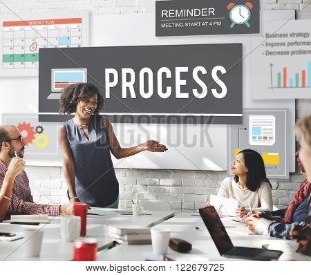 Process Action Business Operation Practice Concept