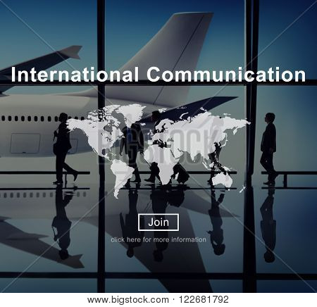 International Communication Connection Networking Website Concept