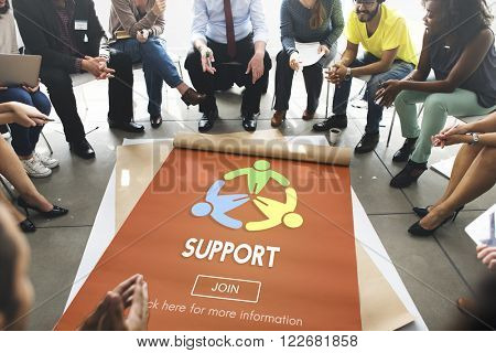Support Collaboration Assistance Help Motivation Concept