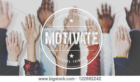 Motivate Aspiration Goal Encourage Inspiration Expectations Concept