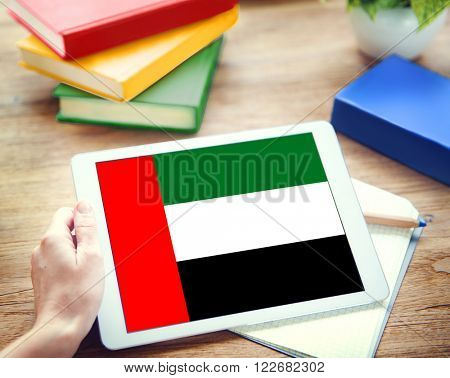 Browsing Network Internet UAE Flag Concept