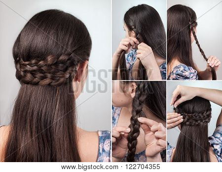 simple hairstyle for long and medium loose hair tutorial