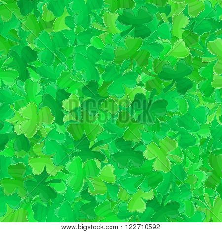 Patricks day background. Irish Saint Patricks day. Green clover vector. Spring vector illustration can be used for spring holiday printed products web design.
