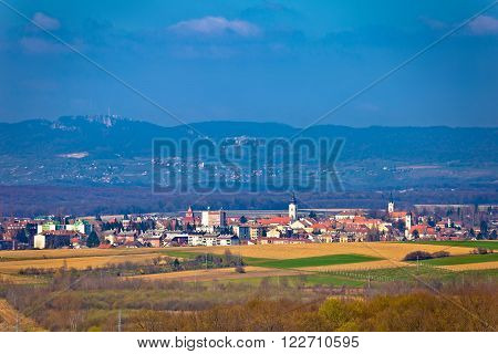 Town of Krizevci and Kalnik mountain Prigorje Croatia