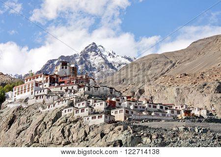 Diskit gompa - Buddhist monastery in the Nubra Valley of Ladakh, Jammu & Kashmi