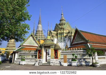 Famous giants infront of Wat Pho gate Wat Pho Bangkok Thailand