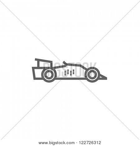 Race car line icon.