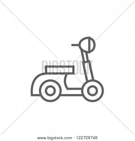 Scooter line icon.