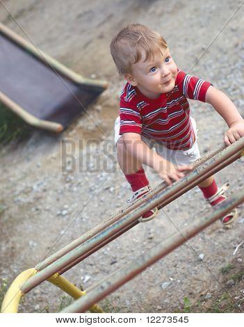A Boy On Playground