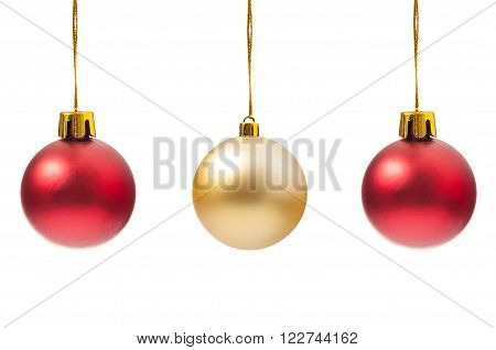 Three Perfect Round Christmas Globes