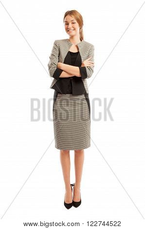 Young And Elegant Business Woman Standing With Confidence