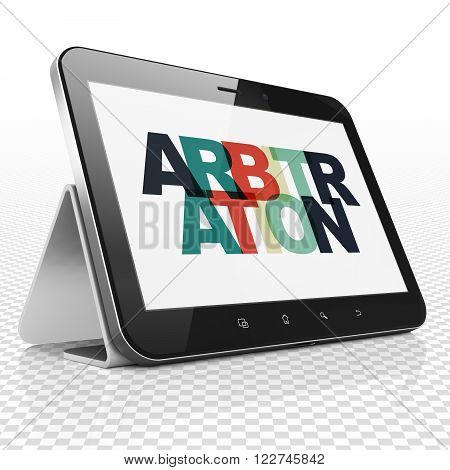 Law concept: Tablet Computer with Arbitration on  display